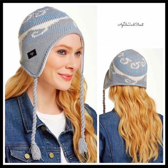 30f036ae5 LUXE COZY LINED NORDIC TASSEL TRAPPER BEANIE HAT NWT